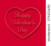 happy valentines day beautiful...   Shutterstock .eps vector #374321650