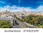 Aerial View  Plaza De Cibeles...