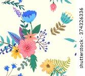 beautiful flowers. seamless... | Shutterstock .eps vector #374326336