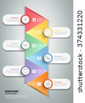 design template infographic 6... | Shutterstock .eps vector #374331220