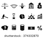 investment icons set | Shutterstock .eps vector #374332870