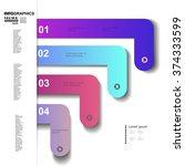 infographic design vector... | Shutterstock .eps vector #374333599