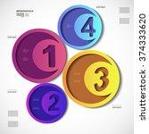 infographic design vector... | Shutterstock .eps vector #374333620