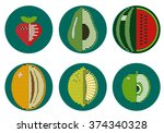 vector color graphic stylized... | Shutterstock .eps vector #374340328