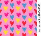 vintage valentine s background... | Shutterstock . vector #374341540