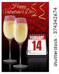 greeting card valentine's day.... | Shutterstock .eps vector #374342674