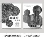 vector business brochure design ...   Shutterstock .eps vector #374343850