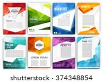poster design template set  ... | Shutterstock .eps vector #374348854