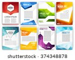 poster design template set  ... | Shutterstock .eps vector #374348878