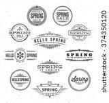 spring typographic design set   ...   Shutterstock .eps vector #374350120