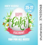 Easter Egg Hunt  Poster. Vecto...
