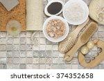 set of bathroom accessory on... | Shutterstock . vector #374352658
