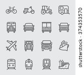 transport set line icons | Shutterstock .eps vector #374353570