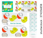 design postcards lemon  jam ... | Shutterstock .eps vector #374356858