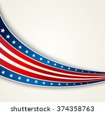 american flag  vector patriotic ... | Shutterstock .eps vector #374358763