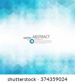 vector abstract geometric... | Shutterstock .eps vector #374359024