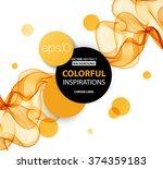 abstract orange wavy lines. ... | Shutterstock .eps vector #374359183
