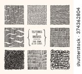 hand drawn textures and brushes.... | Shutterstock .eps vector #374362804