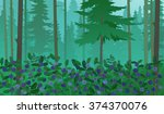 forest landscape with...   Shutterstock .eps vector #374370076