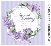 frame for wedding invitation... | Shutterstock .eps vector #374370574
