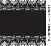 indian  mehndi henna line lace...   Shutterstock .eps vector #374378056