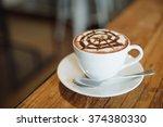 coffee mocha on the wood desk | Shutterstock . vector #374380330