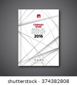 annual report flyer  cover... | Shutterstock .eps vector #374382808