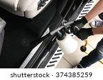 car service. worker washing of  ...   Shutterstock . vector #374385259