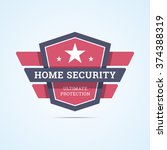 home security badge. ultimate... | Shutterstock .eps vector #374388319