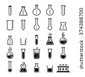 chemical tube icon set | Shutterstock .eps vector #374388700