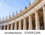 The Colossal Tuscan Colonnades...