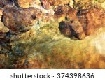 clear river water with rocks ... | Shutterstock . vector #374398636