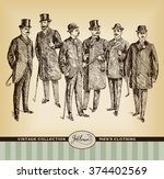 vintage hand drawn gentleman... | Shutterstock .eps vector #374402569