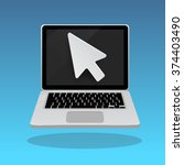 laptop click by digital arrow