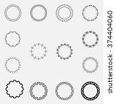 set of round frames   Shutterstock .eps vector #374404060