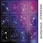 zodiac sign.all  horoscope... | Shutterstock .eps vector #374405344