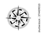 compass navigation dial  ... | Shutterstock .eps vector #374409010