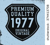 t shirt print design. shield...   Shutterstock .eps vector #374413708