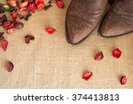 Toes Of Cowboy Boots On Country ...