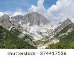carrara marble quarry  tuscany  ... | Shutterstock . vector #374417536