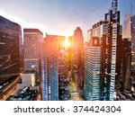 new york skyscrapers above... | Shutterstock . vector #374424304