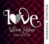 love card design  | Shutterstock .eps vector #374427616