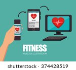 fitness lifestyle design  | Shutterstock .eps vector #374428519