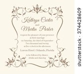 wedding invitation. design... | Shutterstock .eps vector #374428609