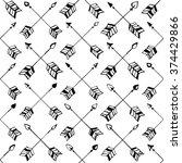 vector hand drawn tribal arrow... | Shutterstock .eps vector #374429866
