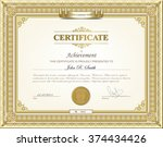 vector illustration of gold... | Shutterstock .eps vector #374434426