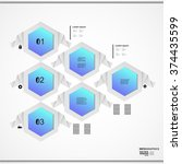 infographic design vector... | Shutterstock .eps vector #374435599