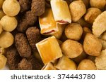 mixed brazilian snack.  | Shutterstock . vector #374443780