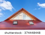 Red Metal Tiled Roof With New...