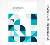 vector abstract brochure ... | Shutterstock .eps vector #374450914